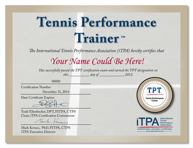 tennis certification  Tennis Performance Trainer (TPT) Tennis Training and Tennis ...